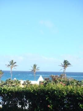 View Overlooking The Atlantic From Mandarin Oriental Elbow Beach Bermuda Taken Interior Of Double Patio A Premier One Bedroom Suite